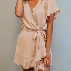 Nude romper new with tags- boutique closure sale